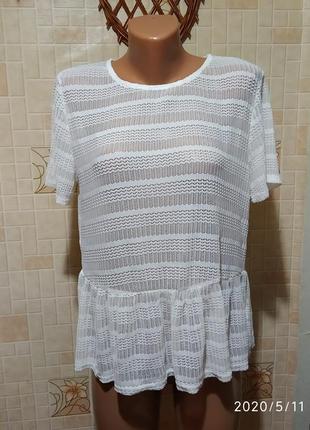 Красивая перфорированная блуза 121