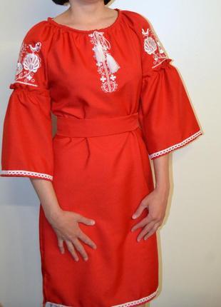 Вишиванка вышиванка сукня з вишивкою розмір м,46