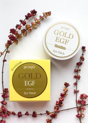 Гидрогелевые патчи petitfee premium gold & egf с золотом и egf