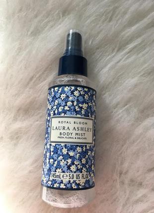 Фирменный мист спрей laura ashley, свежий цветочный деликатный, 145 ml