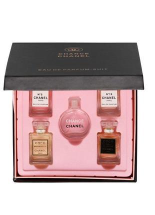 Подарочный набор мини-парфюмов сhanel