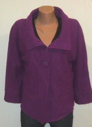 Шерстяной кардиган легкое пальто от medelia размер: 52-xl стройнит