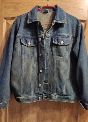 Короткая джинсовая куртка, пиджак, джинсовка на рост 164