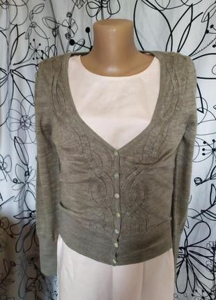 Итальянский свитер джемпер из тонкой натуральной шерсти