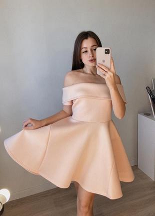 Неопреновое пышное платье на плечи