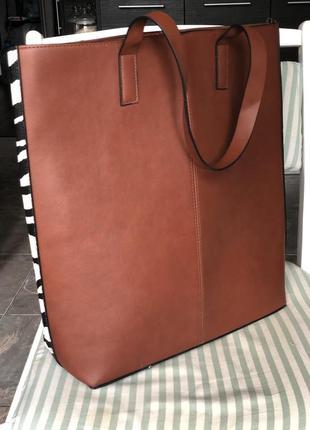 Сумка коричневая для бумаг, документов ,повседневная