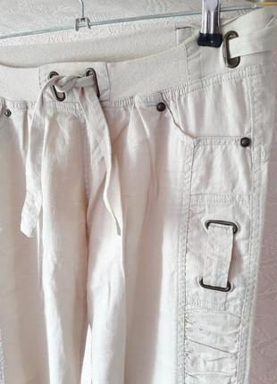 Женские повседневные бежевые штаны брюки хлопок беременным