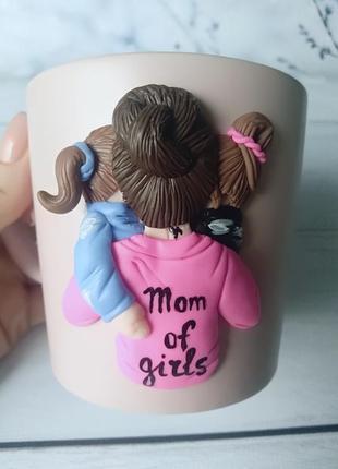 Чашка с декором, handmade