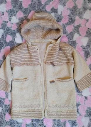 Теплое пальто - кофта 3-5 лет