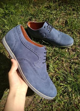 Туфли из натурального нубука, 44, 45 размер