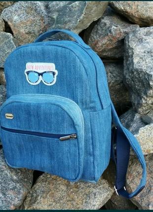 Джинсовый рюкзак3 фото