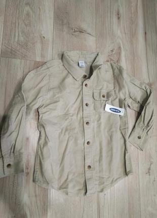 Вельветовая рубашка old navy на 5т