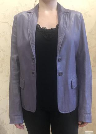 Итальянская кожаная куртка-пиджак