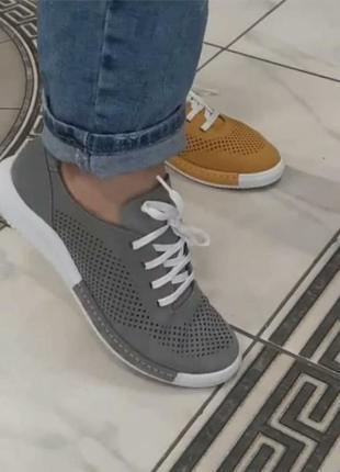 Кеды туфли на шнурке