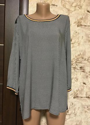 Обалденная натуральная блуза с манжетами,оверсайз!!