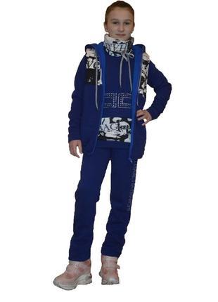 Спотривкий костюм-тройка monkle 36 темно-синий