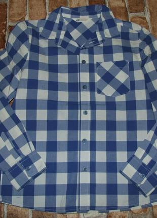 Рубашка клетка мальчику котон 11 - 12 лет h&m