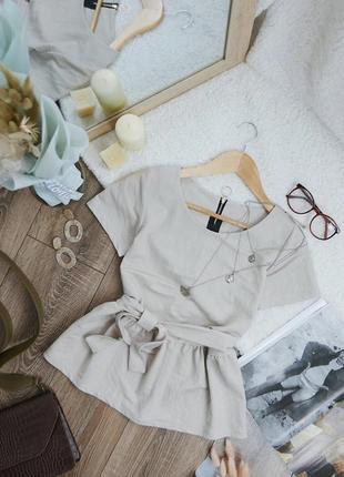Базова нюдова блуза 25579