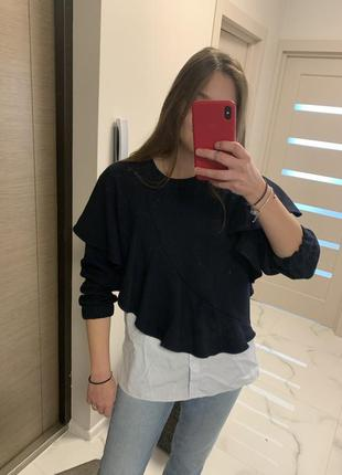 Новая кофта свитшот рубашка пуловер zara