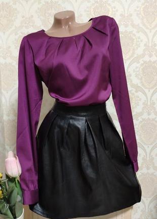 Кожаная юбка(эко кожа)