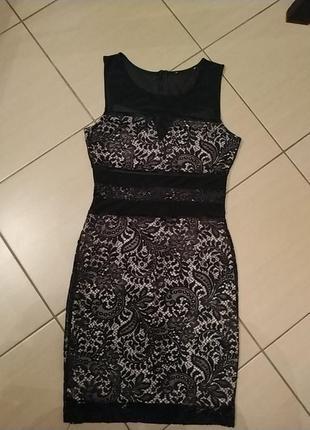 Елегантне вечірнє плаття з гіпюру