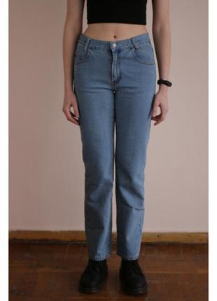 Джинси джинсы штаны штани сині блакитні синие голубые прямий крій m budget