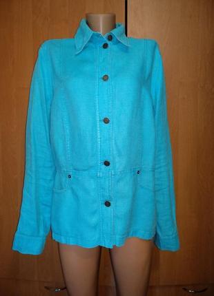 Отличный льняной пиджак лен пог 55 см
