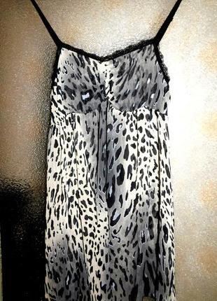 Блуза шифоновая на бретелях , италия