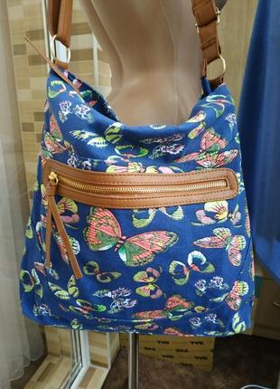 Стильная джинсовая сумка с блестящими 🦋 бабочками