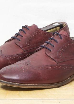 Hotic р 43 - на стопу 26.5 см туфли мужские кожаные броги