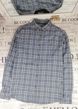Фирменная стильная натуральная рубашка в клетку tu 100% коттон