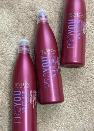 Шампунь для блондированных  волос revlon professional pro you white hair shampoo