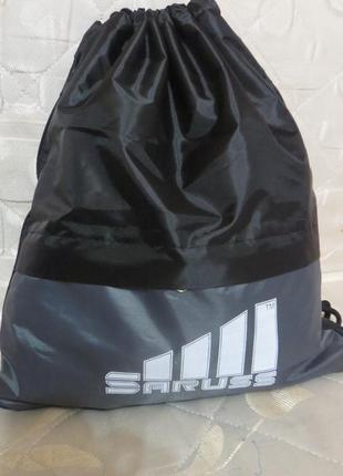 Спортивный рюкзак-мешок для спорта, фитнеса saruss с серой вставкой