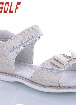 Красивые,нарядные сандалии на девочку tm jong golf 40008 размеры 26- 31