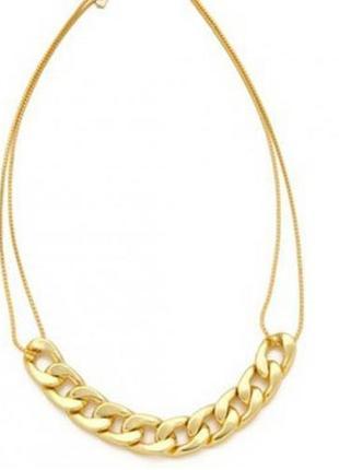 Колье цепь, ожерелье из цепей тренд по супер цене