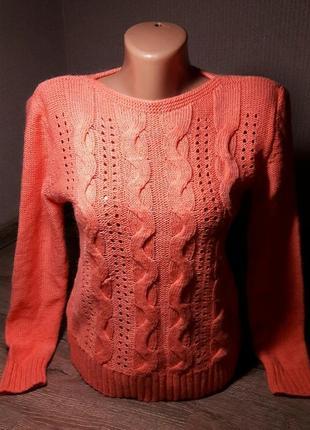 Новый шерстяной свитерок персикового цвета