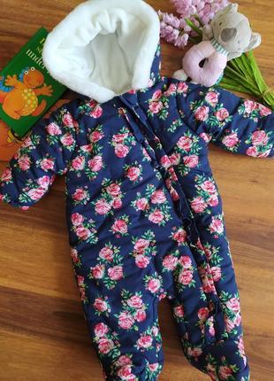 Модный демисезонный комбинезон на малышу tu на 1-3 месяяца.