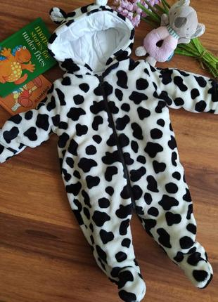 Шикарный меховой комбинезон,человечик на малыша pitterpatter на 0-3 месяца.