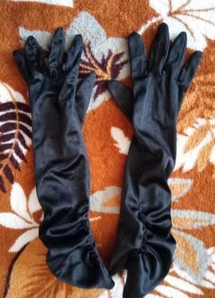 Перчатки атласные