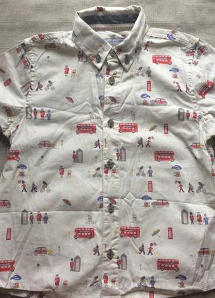 Летняя рубашка с лондонским принтом monsoon