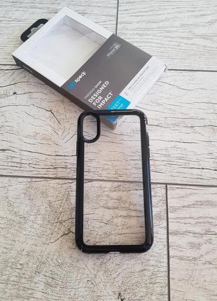 Защитный чехол speck presidio show clear/black для iphone xr