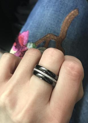 Кольцо серебряное с керамикой