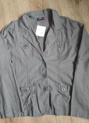 Батал! классный льняной пиджак gina benotti р. ххl, есть замеры