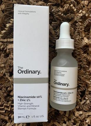 Сыворотка с ниацинамидом и цинком the ordinary niacinamide 10% zinc 1%
