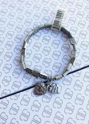 Металический браслет на резинке с подвесками