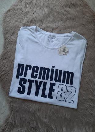 Белая мужская футболка livergy xl с коротким рукавом