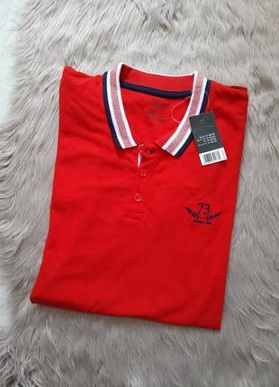 Акция! 230 грн. футболка поло мужская красная livergy