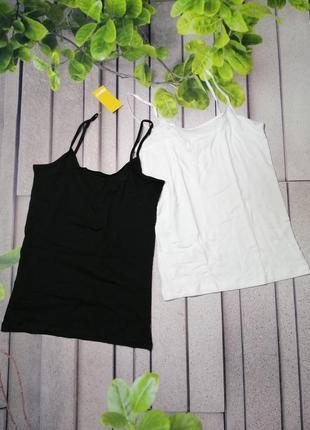 Подростковые бельевые майки черная и белая комплект