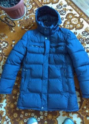Зимняя куртка пуховик для мальчика (160-165)