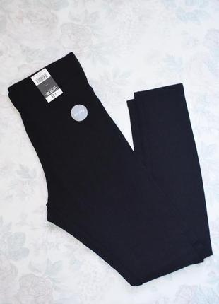 Черные теплые лосины/легинсы с начесом от george 12 размер